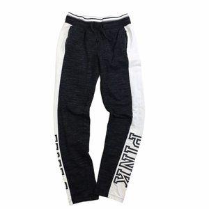 PINK Victoria's Secret Skinny Joggers Gray/White